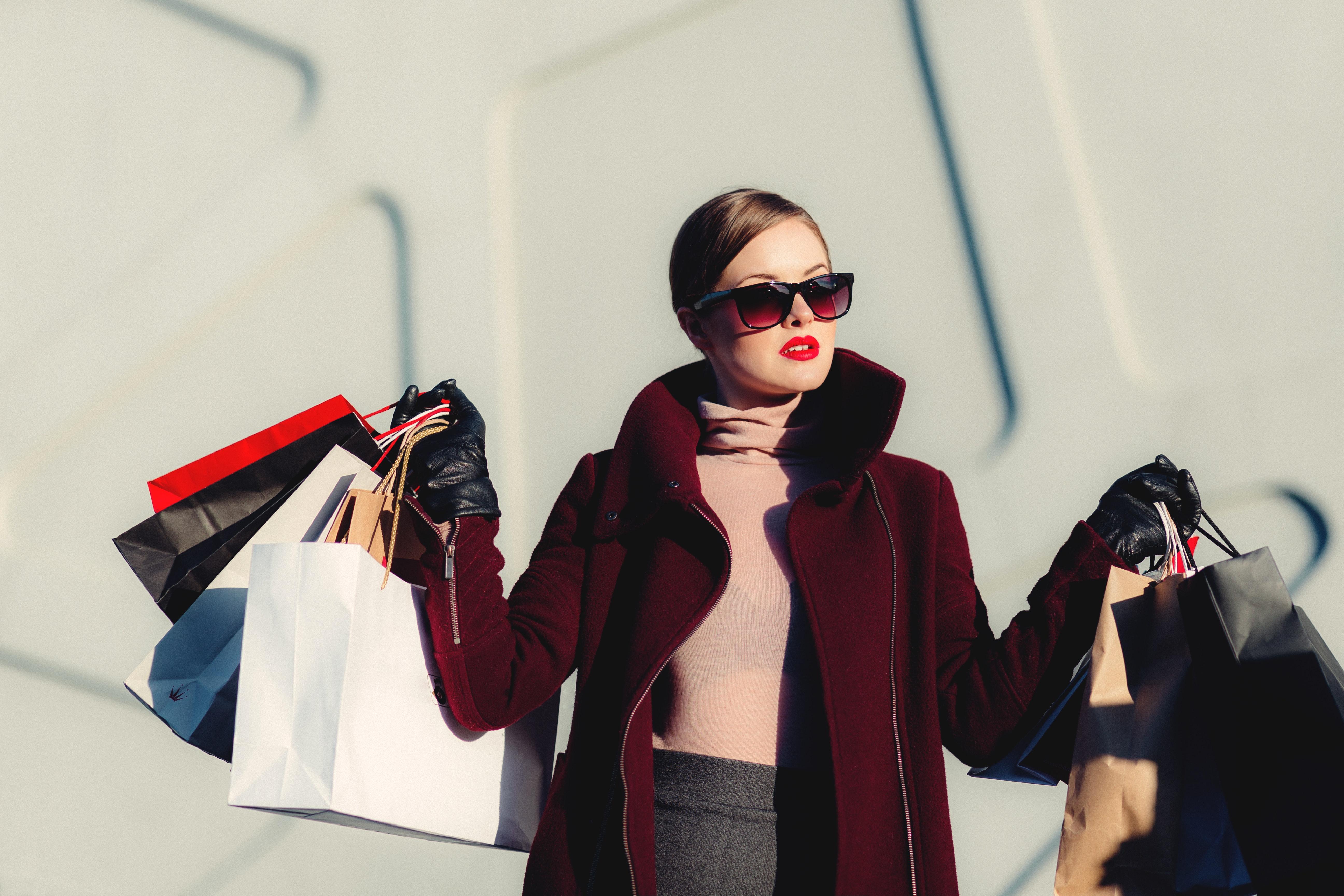 Person som har shoppat