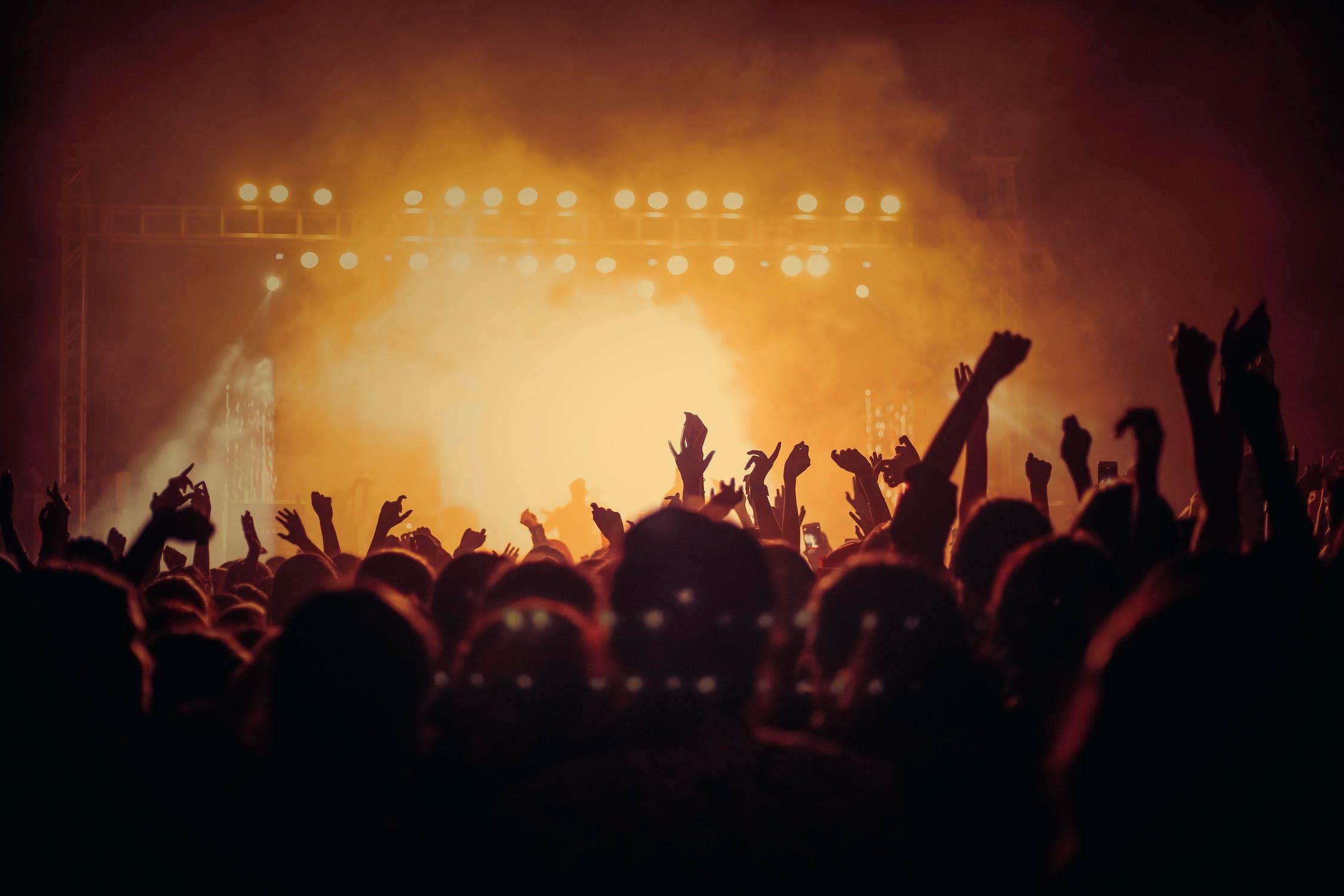 Människor på en konsert